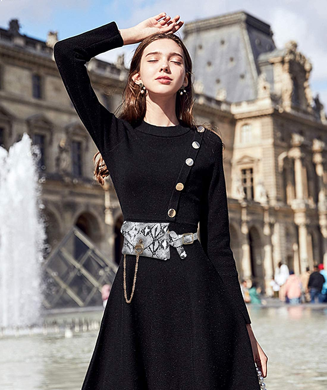 DORRISO Moda Cintura Borsa Donna Marsupio Pelle Borsa Donna Cinture Borsa per Shopping Lavoro Feste Affari