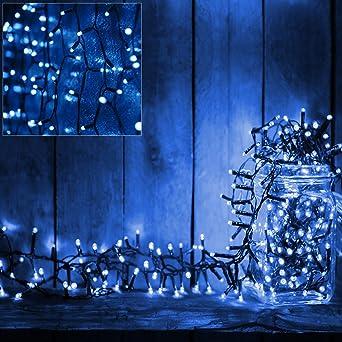 Batterie Weihnachtsbeleuchtung Aussen.Deuba 160 Led Lichterkette 11 5m I Blau I Batterie Timer I Für Innen Außen I 8 Funktionen Weihnachtsbeleuchtung Weihnachtsdekoration