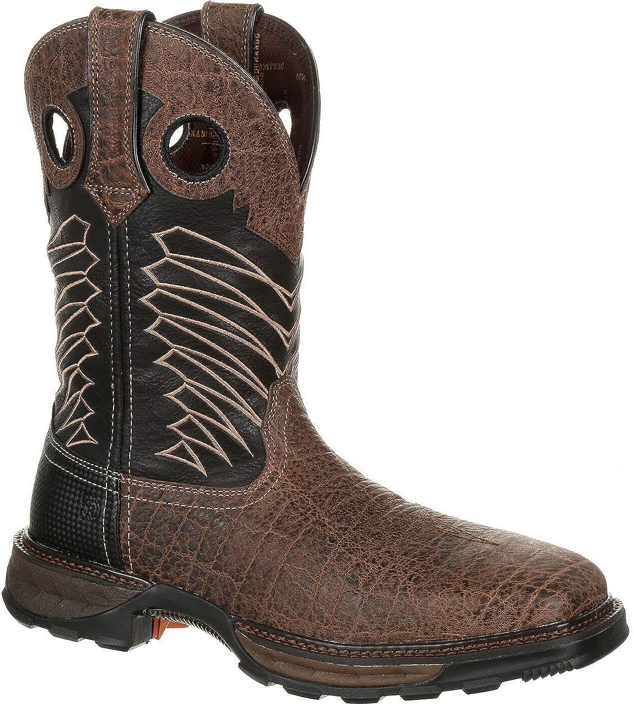 Kid/'s Maverick XP western work boot by Durango Brown//Chestnut