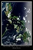 Terra Prints Republic of the Philippines Satellite Poster Map L 24 x 36 inch