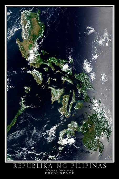 Terra Earth Map.Amazon Com Terra Prints Republic Of The Philippines Satellite