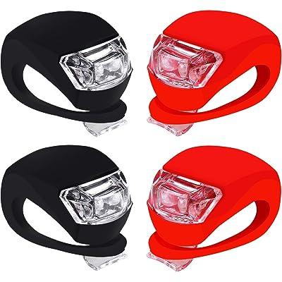 Fonice Luz de Seguridad LED, L luz Trasera de Bicicleta súper Brillante de 4 Piezas Funciona de Manera Brillante como luz de Carrera para Corredores, Mascotas, Luces estroboscópicas de Bicicletas