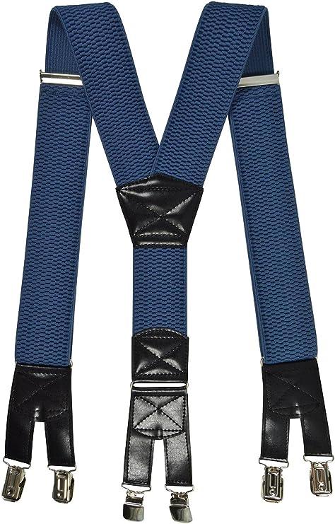 Verstellbar Stark Schwerlast Elastisch Hosenträger Clip Auf Hose Jeans