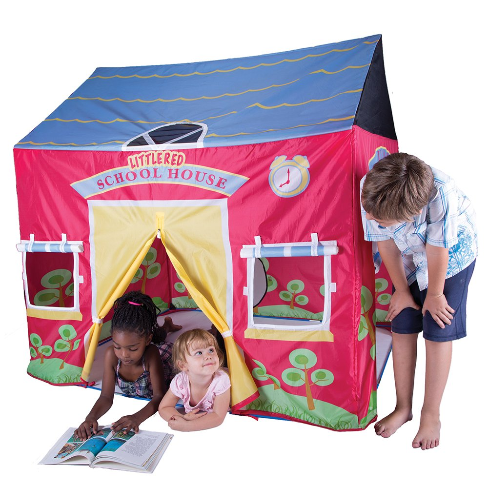 Amazon.com Pacific Play Tents Kids Little Red School House Tent Playhouse - 58  x 48  x 58  Toys u0026 Games  sc 1 st  Amazon.com & Amazon.com: Pacific Play Tents Kids Little Red School House Tent ...