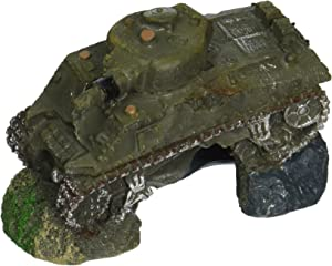 Blue Ribbon PET Products 030157015893 Exotic Environments Army Tank with Cave