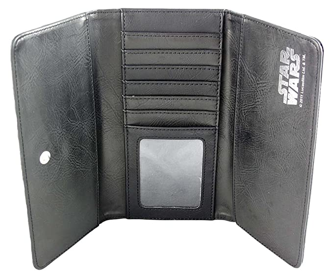 Amazon.com: Star Wars Blanco y Negro Cuadros – Monedero para ...