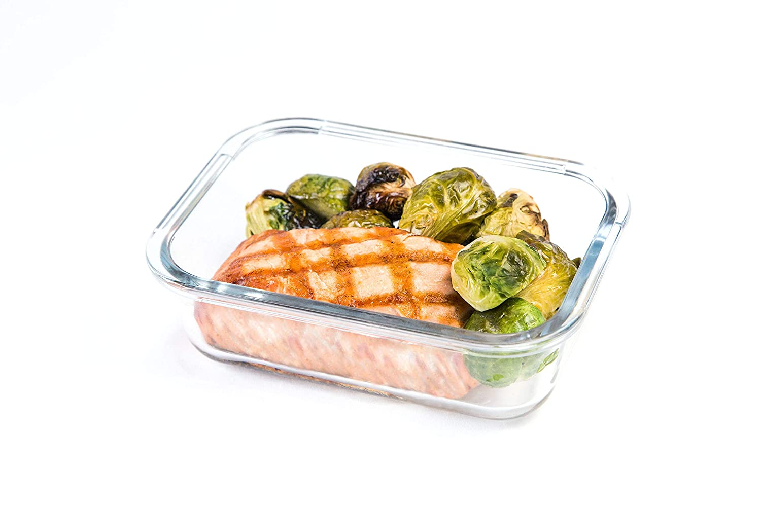 3 Pack - 2 Compartment | Airtight Glass Meal Prep Containers with Leak-Free Lid Locks | Freezer & Oven Safe Glass Food Storage Containers | BPA-Free & Environmentally Friendly