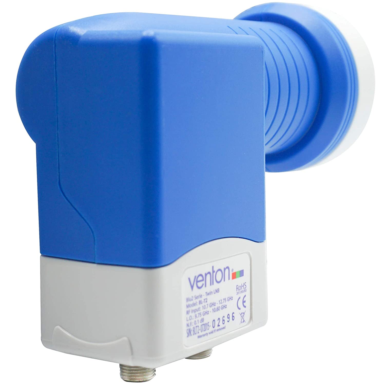 Retractable as a Set with 4/Free F-connectors gold plated contacts. Weather Proof Venton Twin LNB Digital 0.1dB for 2/x Direct Connection Full Ultra HD TV 3D 4K