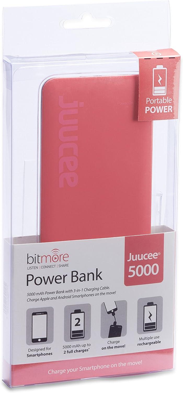Bitmore Juucee 5000 mAh externa portátil: Amazon.es: Electrónica