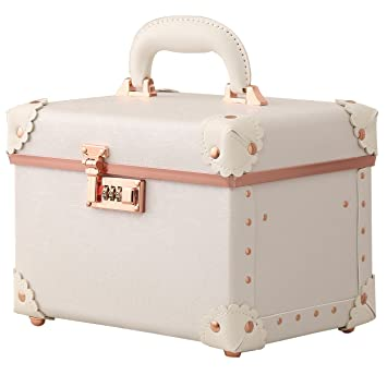 fa1c9e711cc5 Portable Leather Cosmetic Case Makeup Case Double Layer Cosmetic Bags  Toiletry Case for Women Rose...