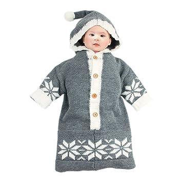 Amazon Com Newborn Baby Wrap Swaddle Knit Blanket Sleeping Bag Sack