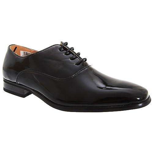 Find Zapato de Cordones Piel Grabada para Hombre, Negro (Black), 42 EU