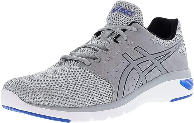 Asics Men's Gel-Moya Mid Grey/Victoria Blue Ankle-High Running Shoe - 13M