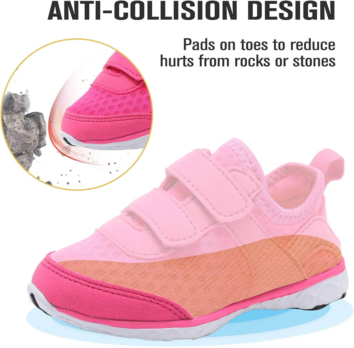 CIOR Boys /& Girls Water Shoes Aqua Shoes Swim Shoes Athletic Sneakers Lightweight Sport Shoes Toddler//Little Kid//Big Kid