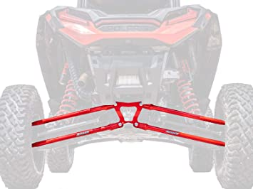 Red XP 4 1000 2014+ SuperATV Heavy Duty Round Tubed Rear Radius Arms//Rods for Polaris RZR XP 1000