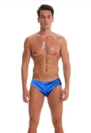 daf4d11624 Mens Swim Briefs Low Rise Swimming Trunks Beach Bikini Shorts Quickdry Swimwear  Swimsuit Blue