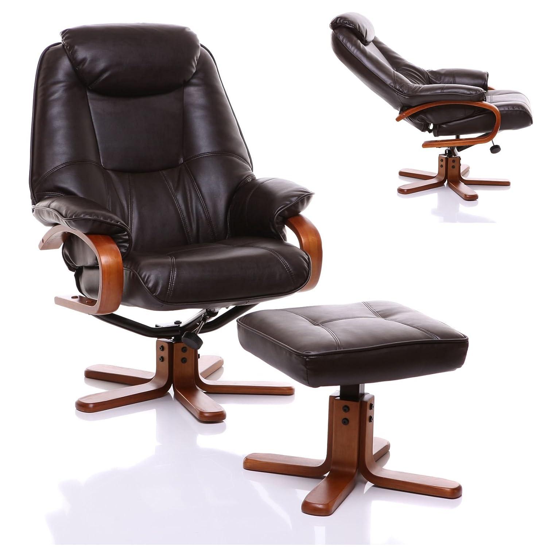 100 leather recliner swivel chair divani casa charles mid c