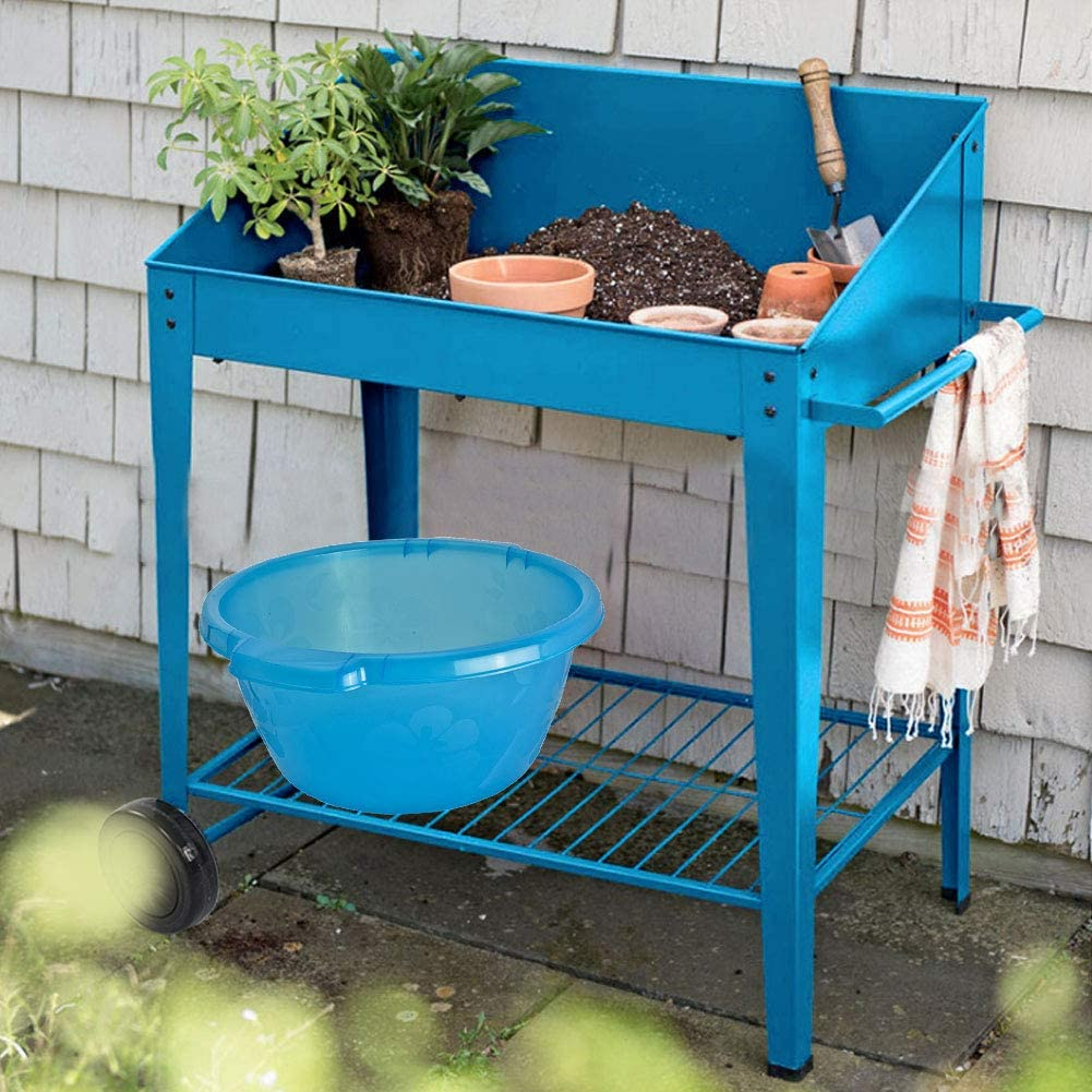 Raised Garden Bed with Legs Outdoor Raised Planter Box on Wheels 35.4 x 18.5 x 37.8inch Elevated Garden Bed for Vegetable Flower Herb Patio