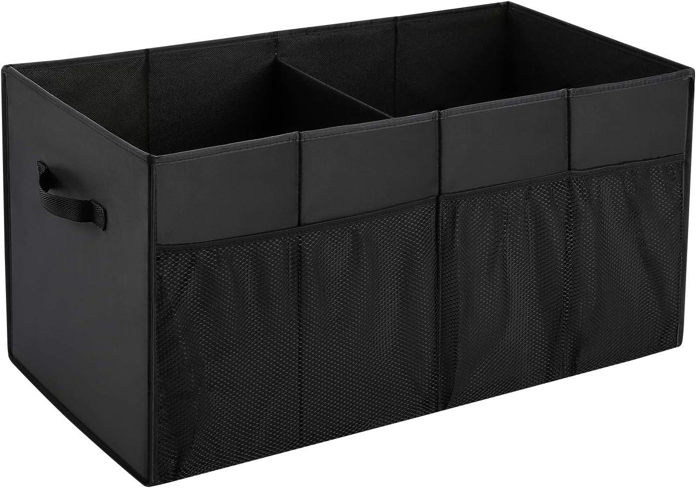 UMI. by Amazon - Organizador para Maletero del Cohce, Caja de Almacenaje Plegable para Coche, con 2 Asas, Negro