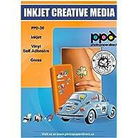PPD 20 Sheets Inkjet Creative Media Glossy Self Adhesive PVC Vinyl Sticker Paper 8.5x11 True Photographic Quality 4.1mil…