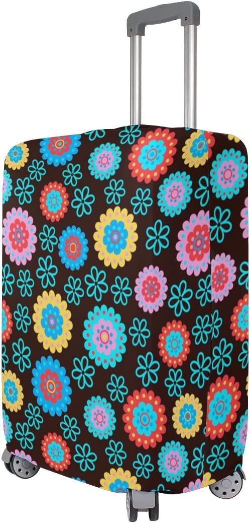 OREZI Luggage Protector Colorful Dot Travel Luggage Elastic Cover Suitcase Washable and Durable Anti-Scratch Stretchy Case Cover Fits 18-32 Inches