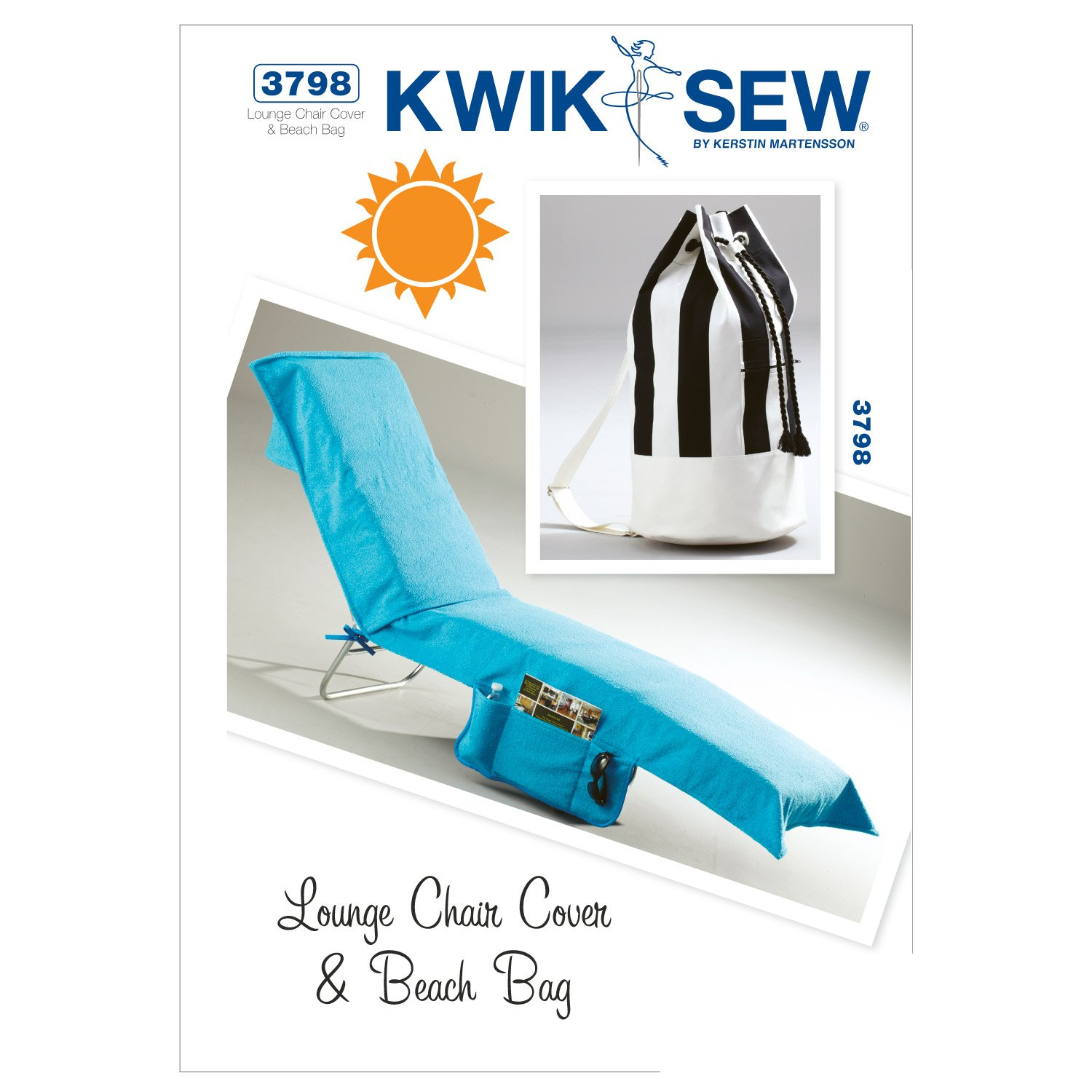 Amazon kwik sew k3798 lounge chair cover and beach bag sewing amazon kwik sew k3798 lounge chair cover and beach bag sewing pattern no size jeuxipadfo Gallery