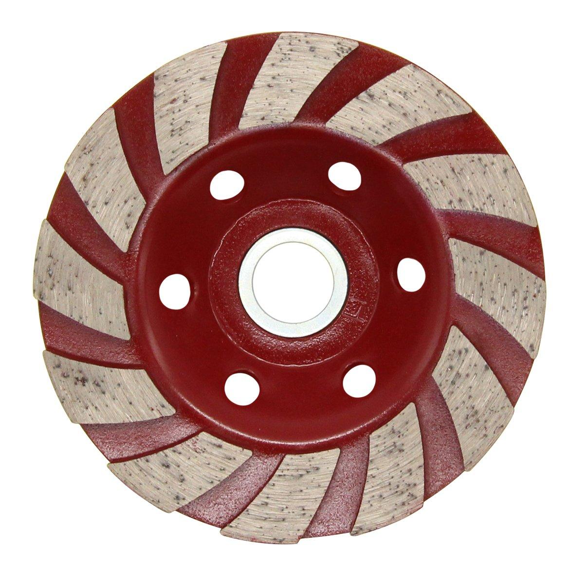 Latinaric 12 Segs 110mm 4.3 Concrete Turb Diamond Grinding Cup Wheel Disc Masonry Stone Cutting Tool For Angle Grinder Black