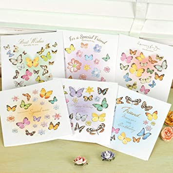 3D Handmade Birthday Cards Artsy Delicate Bulk Butterflies Greeting Communication Variety