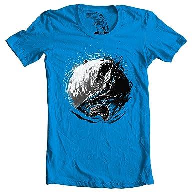 671efeca8f8 Fin Fang T Shirt Yin Yang Shark Bear Graphic Tee Funny Shirts ...