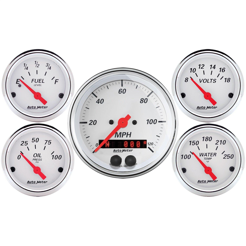 Auto Meter (1350) 5-Piece Gauge Kit