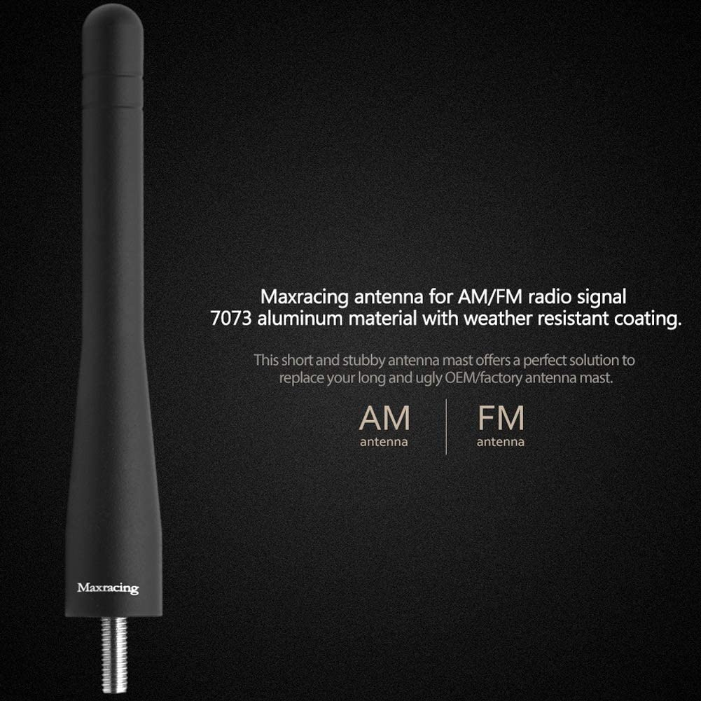 Maxracing Short Aluminum Antenna Compatible with 02 to 2007 Jeep Liberty