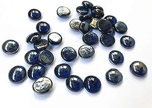 Briliant Shop Flat Pebbles Marbles, 5Lbs Glass Gems Stone for Vase Fillers, Wedding Table Scatter, Aquarium Fillers Decor, Party Decoration, Crystal Rocks (Approx 500 pcs Royal Blue)
