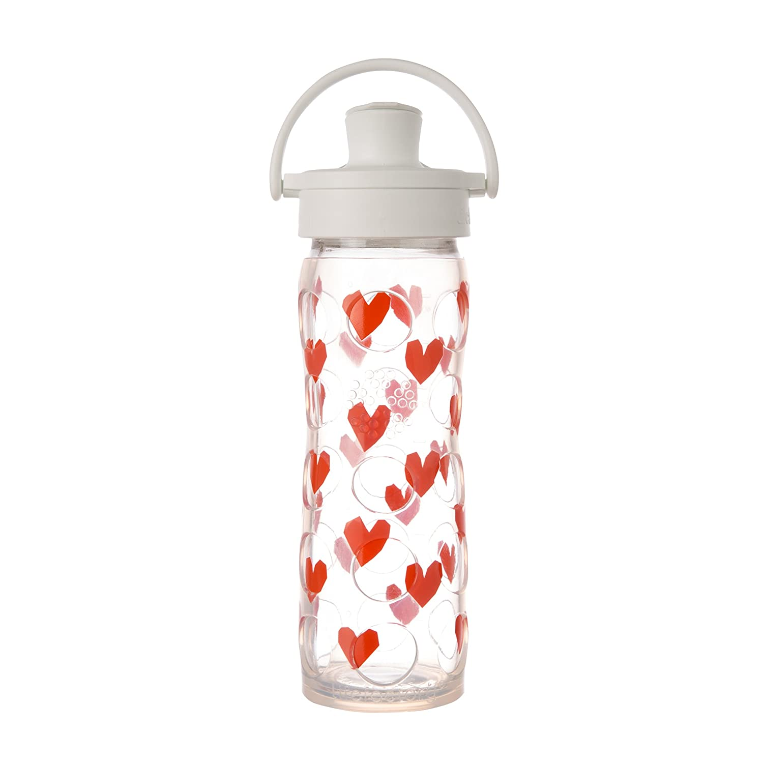 Tru Luv Lifefactory 16-Ounce BPA-Free Glass Water Bottle with Active Flip Cap and Silicone Sleeve