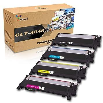 CLT-404,7Magic Tóner Compatible con Samsung CLT-P404C CLT-404S ...