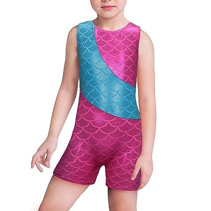 3d26efc02aa25 Maillot de gimnasia para chicas de Kidsparadisy una sola pieza con pantalones  cortos