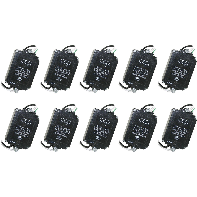 CEP GF6095 20-Amp 120-Volt UL Listed Panel Module Circuit Breakers, 10-Pack