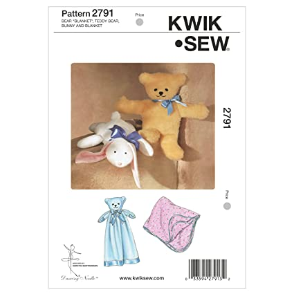 Amazon com: Kwik Sew K2791 Bear Blanket Sewing Pattern, Teddy Bear