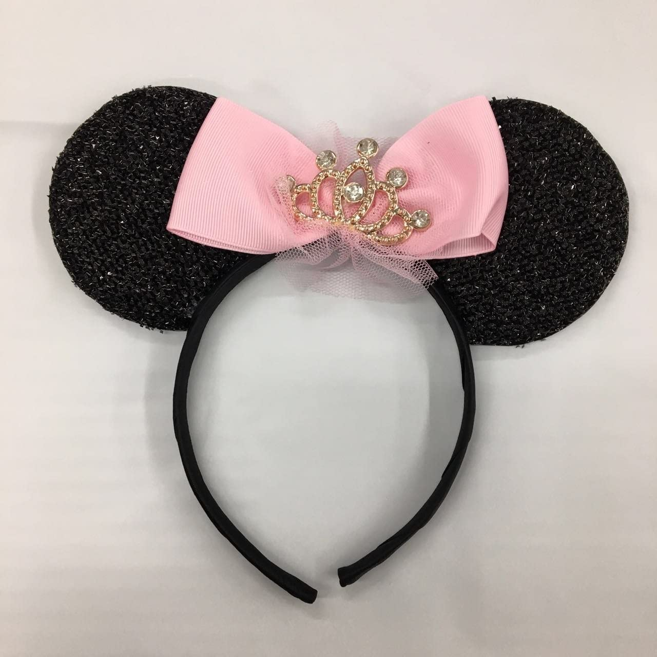 Disney Parks Princess Crown Pink /& Rose Gold Minnie Mouse Ears Headband New