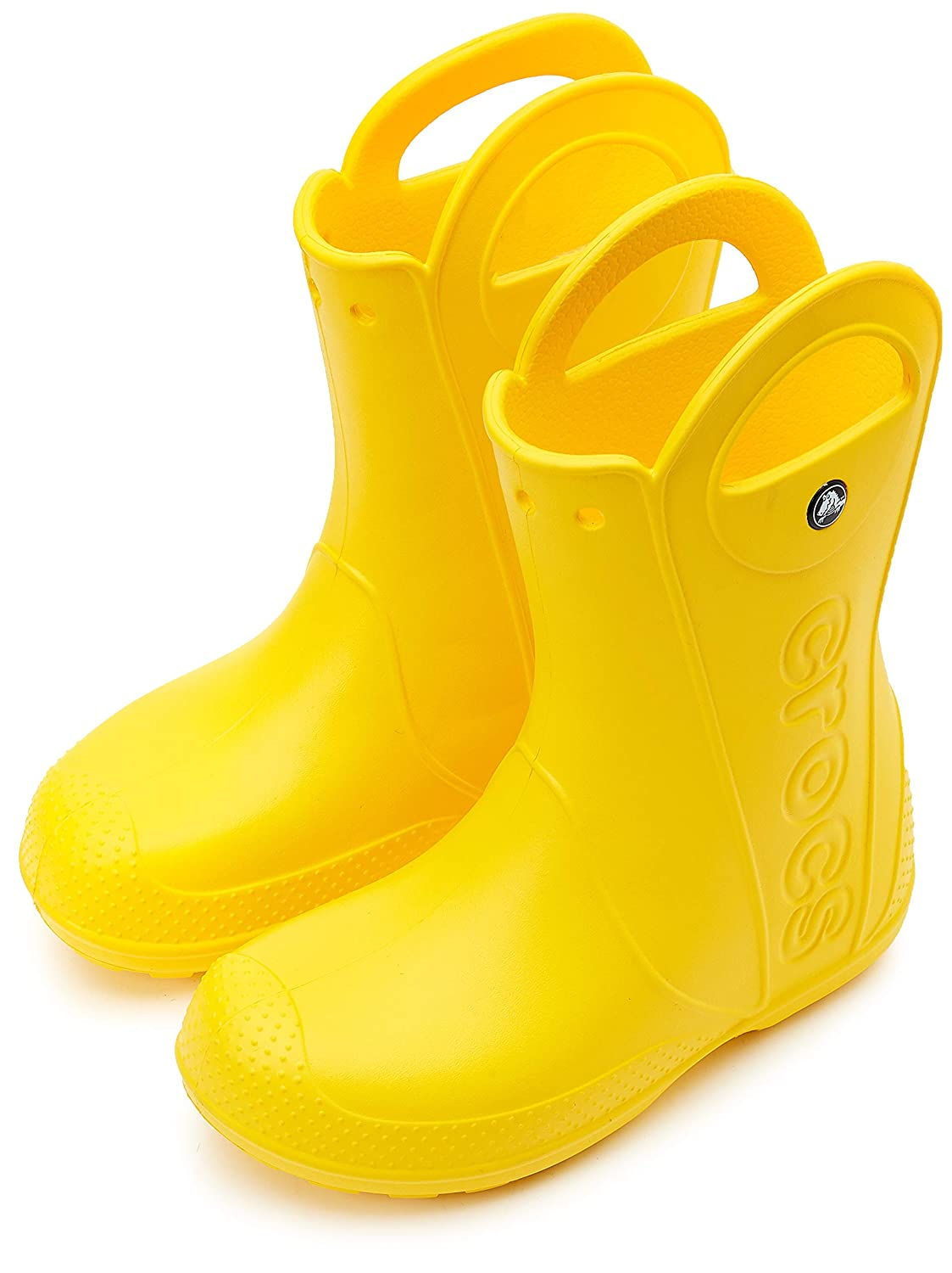 7b2d75635c Amazon.com | Crocs Kids' Handle It Rain Boot | Easy On for Toddlers, Boys,  Girls | Lightweight and Waterproof | Rain Boots