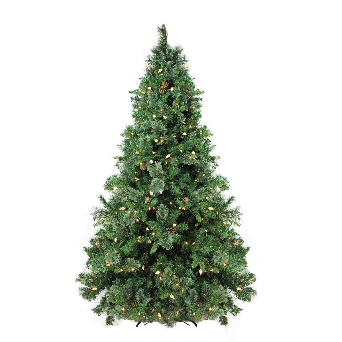 Amazon.com: Northlight Pre-Lit Single Plug Mixed Cashmere Pine Self ...