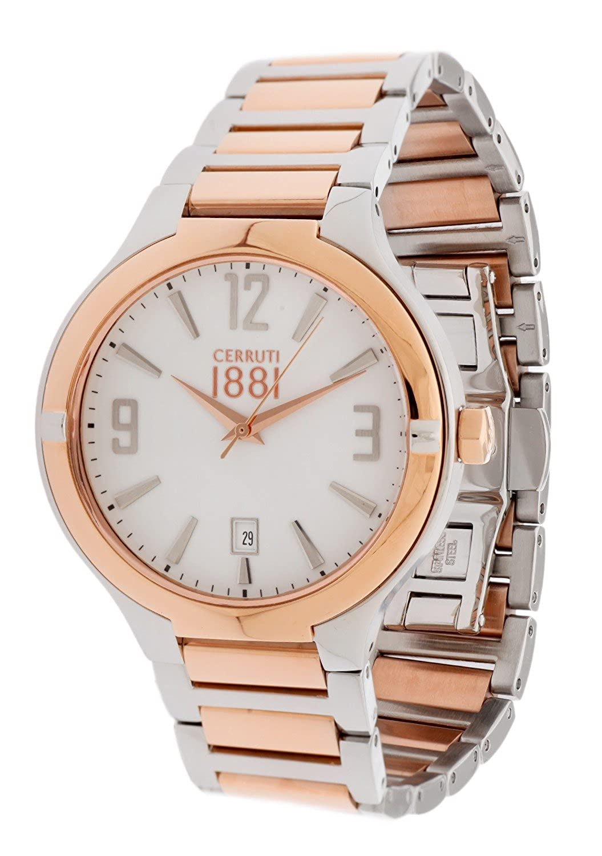 Cerruti Herren Armbanduhr Silber CRA106STR01MRT