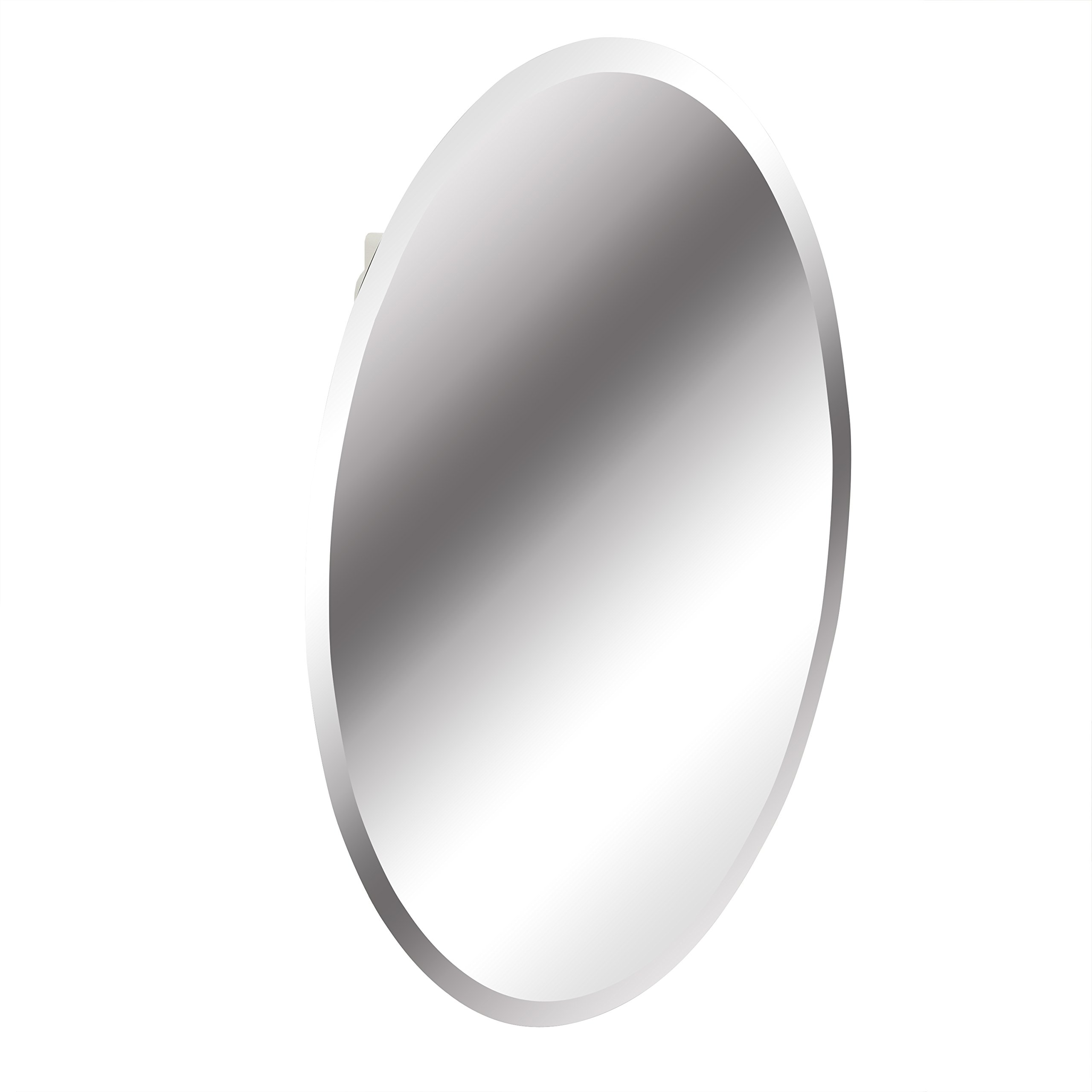 American Pride 97VM131BOR Recessed Frameless Oval Beveled Polished Edge Mirror Medicine Cabinet, 21 x 31''