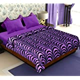 Story@Home Coral Soft Printed Polyester Double Blanket - Purple