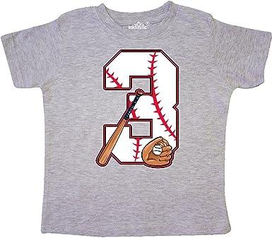 inktastic 3rd Birthday Baseball 3 Year Old Boy Toddler T-Shirt