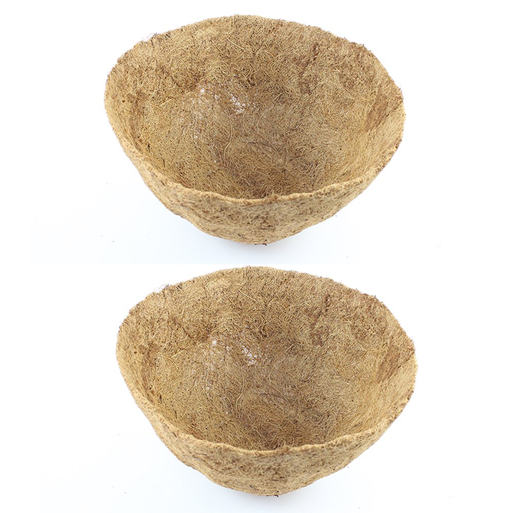 12-Inch Round Coco Fiber Replacement Liner,Basket Shaped (Pake of 2)
