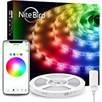 Amazon Price History for:NiteBird Smart LED Strip Lights Work with Alexa Google Home,App Remote Control,16 Million RGB 5050 SMD LED Color…