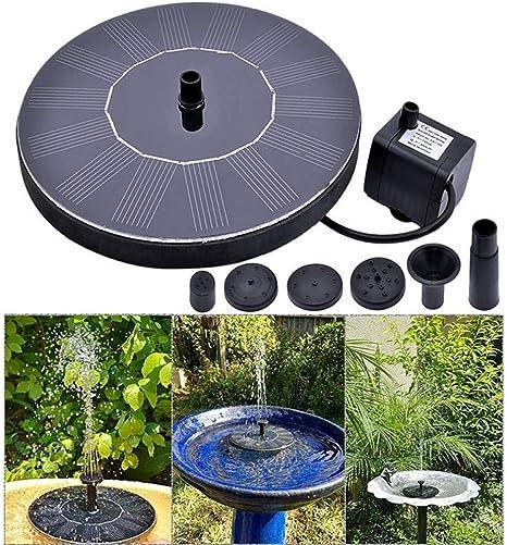 ZLJWRQY Fuente de energía Solar Flotante Bomba de Agua Fuente Estanque para Aves baño jardín decoración jardín Exterior Edificio Decoraciones: Amazon.es: Deportes y aire libre