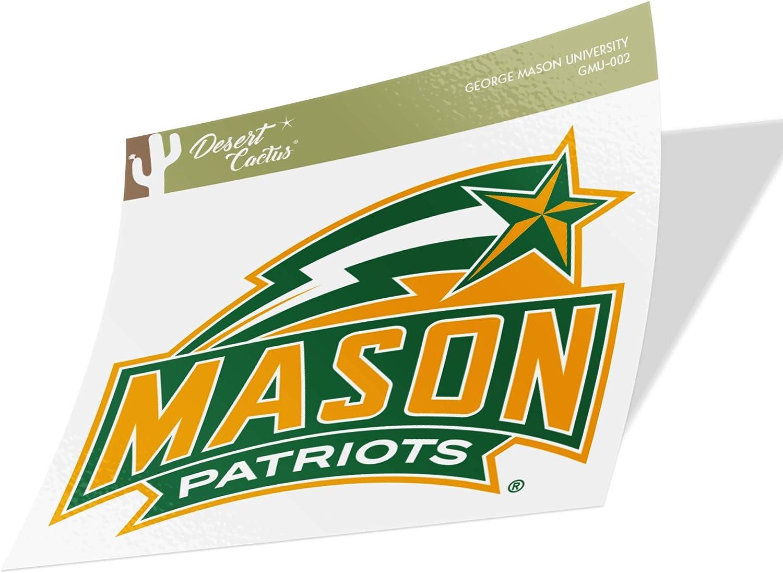 George Mason University GMU Patriots NCAA Vinyl Decal Laptop Water Bottle Car Scrapbook (Sticker - 002)