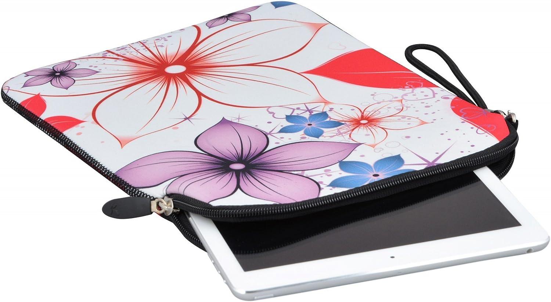 Pink Flowers 7 MySleeveDesign Custodia in Neoprene per Tablet e iPad 7-7,9 Pollici // 10-10,1 Pollici Diverse Fantasie