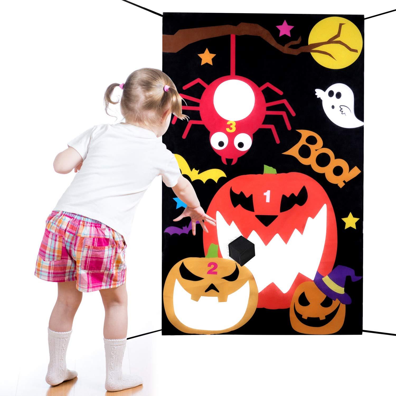 Legendog Halloween Toss Game Set Kreatives Türbanner-Wurfspiel mit Wurfbällen